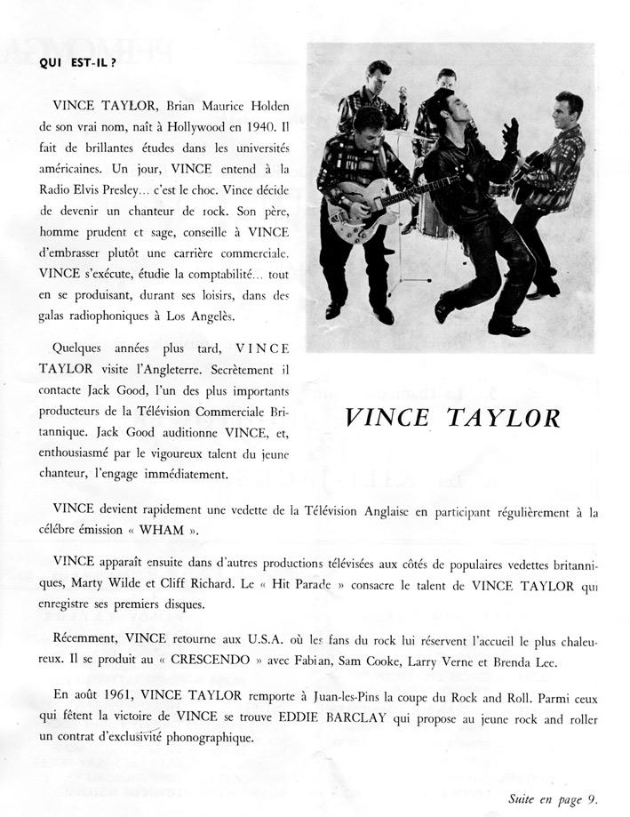 chanteur vince taylor